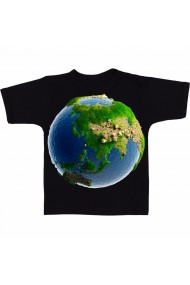 Tricou Planeta pamant negru
