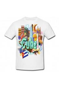 Tricou Cuba cartoon alb