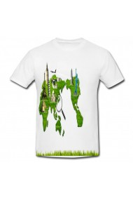 Tricou Harta lumii verde alb