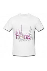 Tricou Paris alb