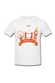 Tricou Londra orange alb