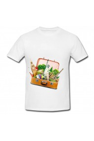 Tricou Tourist attractions bag 2 alb