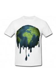Tricou Planeta se scurge alb