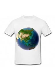 Tricou Planeta din spatiu alb