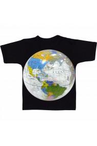 Tricou Transparent glob negru