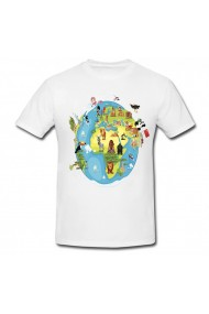 Tricou Forest in earth alb