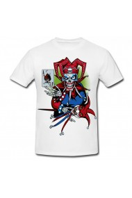 Tricou Evil jester alb