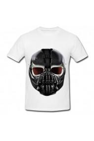 Tricou Dark knight rises bane mask alb
