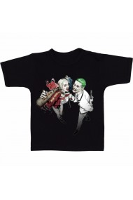 Tricou Joker and Harley Quinn negru