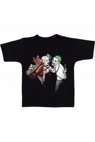 Tricou Joker and Harley Quinn negru