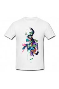 Tricou Joker art alb