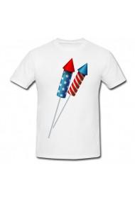 Tricou Rachete americane alb