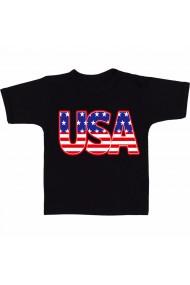 Tricou Ilustratie USA negru