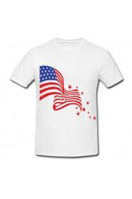 Tricou Steagul american si stele alb
