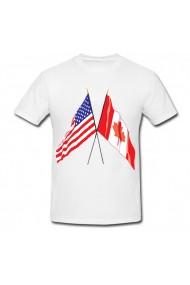 Tricou SUA & Canada alb