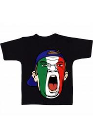 Tricou Soccer fan Italia negru
