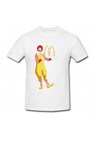 Tricou Ronald mcdonald alb