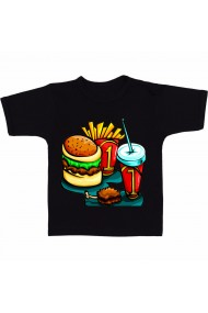 Tricou Meniu McDonald`s negru