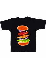 Tricou Ingrediente hamburger negru