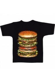 Tricou Hamburger animated negru