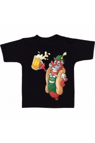 Tricou Hot dog si bere negru