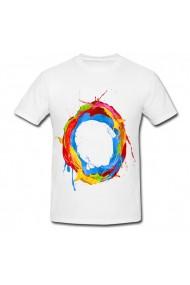 Tricou Logo art color alb