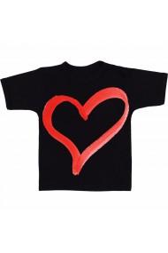 Tricou Inima rosie negru