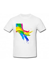 Tricou Color Drops alb