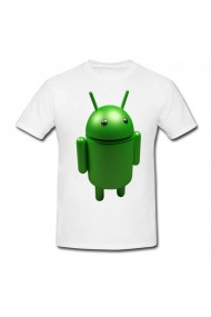 Tricou Cartoon Network Android alb