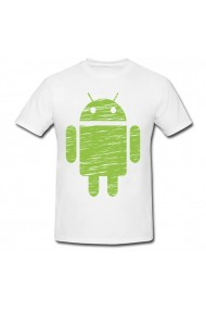 Tricou Android boy alb