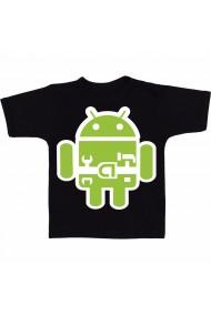 Tricou Android repair logo negru