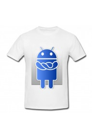Tricou Android albastru alb
