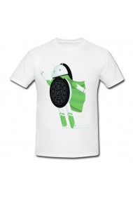 Tricou Android Oreo flying alb