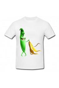 Tricou Banana verde rusinoasa alb