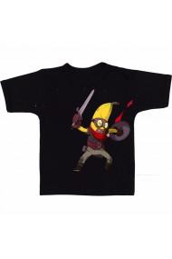 Tricou Banana super-erou negru