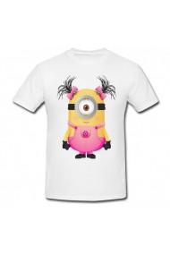 Tricou Minion roz alb