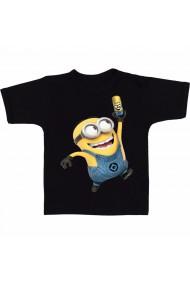 Tricou Minion fericit negru