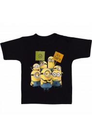 Tricou Minion - Go dark negru