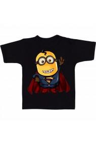 Tricou Minion - SuperMan negru