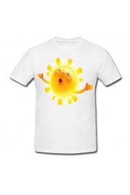 Tricou Soare fericit alb