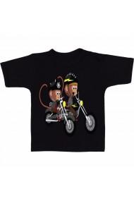 Tricou Maimute pe motocicleta negru