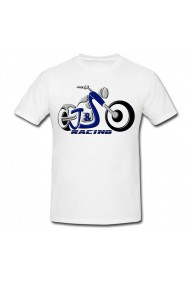 Tricou Moto racing alb