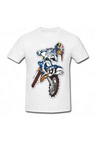 Tricou Motocross desenho alb