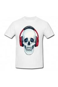 Tricou Skeleton headphones alb