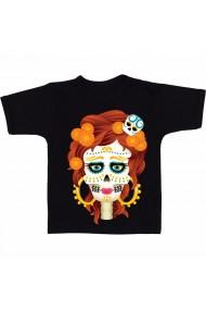 Tricou Skull the gril negru