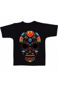 Tricou Vector Art Of Sugar Skulls negru