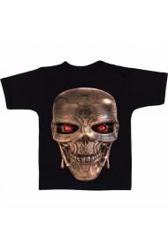 Tricou Robot head negru