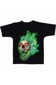 Tricou Dungeons and dragons flameskull negru