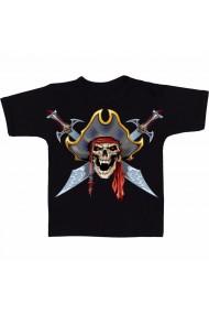 Tricou Pirate skull tattoo negru