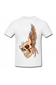 Tricou Skull Cartoon alb